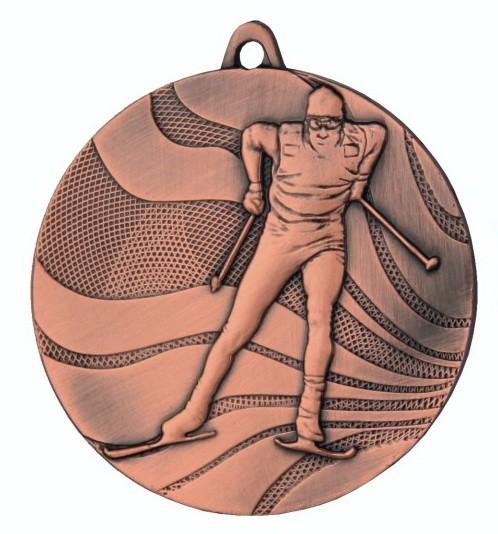 Ski - Medaille mit Band und Beschriftung, TR-MMC3350