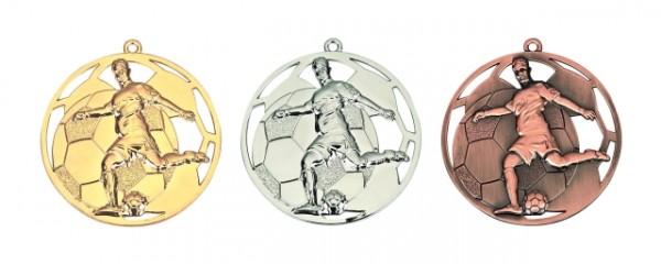 Fußball-Medaille Komplett , RF-E4006.1 - E4006.3