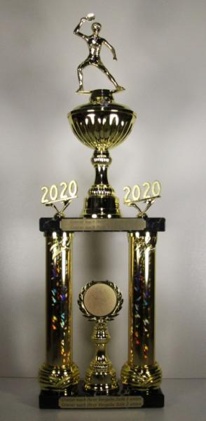 Säulenpokal Tischtennis Spieler EB-0045-47