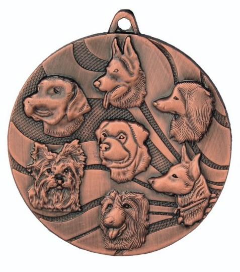 Hunde - Medaille mit Band und Beschriftung, TR-MMC3150