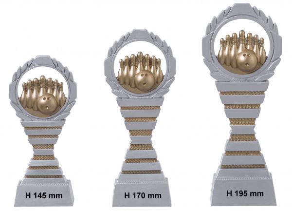 Bowling-Trophäe, 3er Serie RF-C824.1 - C824.3