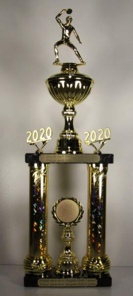 Säulenpokal Tischtennis Spielerin EB-0050-52