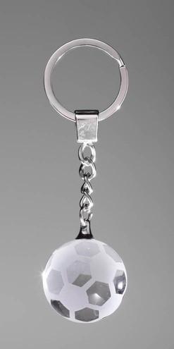 Glas Schlüsselanhänger Fußball ST-67351