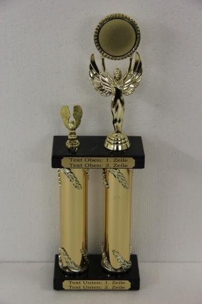 Säulenpokal Randy Gold, 345 mm bis 445 mm