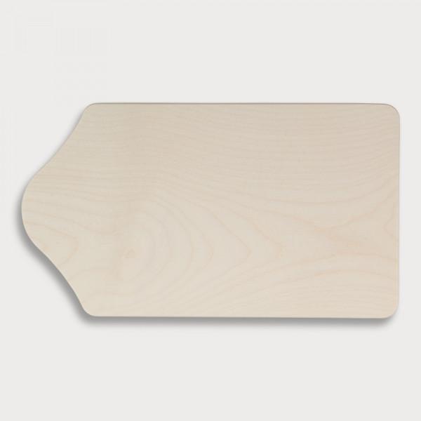 Frühstücksbrett, Kapellenform aus Holz 23 cm