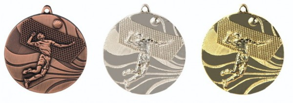 Volleyball - Medaille mit Band und Beschriftung, TR-MMC2250